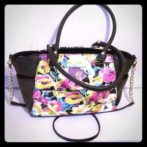 Betsy Johnson Floral Vinyl Tote Chain Strap